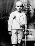 Foto do papa quando criança.