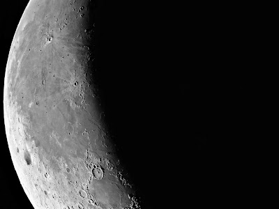 Imagem da Lua no quarto Minguante