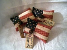 Pieced American Flag Ornies