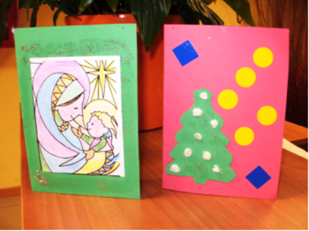Tarjetas por ni os imagui - Postales navidad hechas por ninos ...