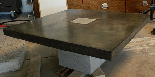 R A W F O R M D E S I G N Our Newest Table - Stained concrete table