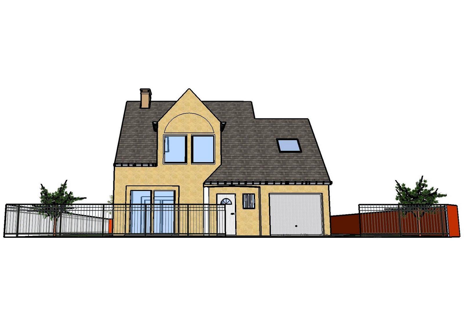 faire construire plan ext rieur fait avec google sketchup. Black Bedroom Furniture Sets. Home Design Ideas