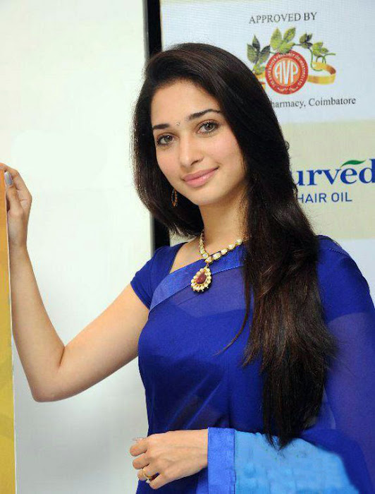 tammanah in blue at parshute ad campaign photo gallery