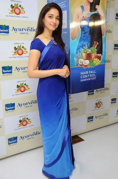 tammanah in blue at parshute ad campaign hot images
