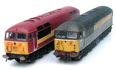 New and Old - Hornby's new class 56 alongside a converted Mainline model - I think that the Mainline can hold its own still. Its tooling may be a little heavier, but it still looks rather good.