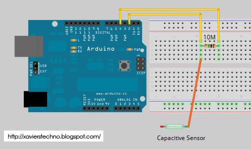 Techno capacitive sensing w arduino