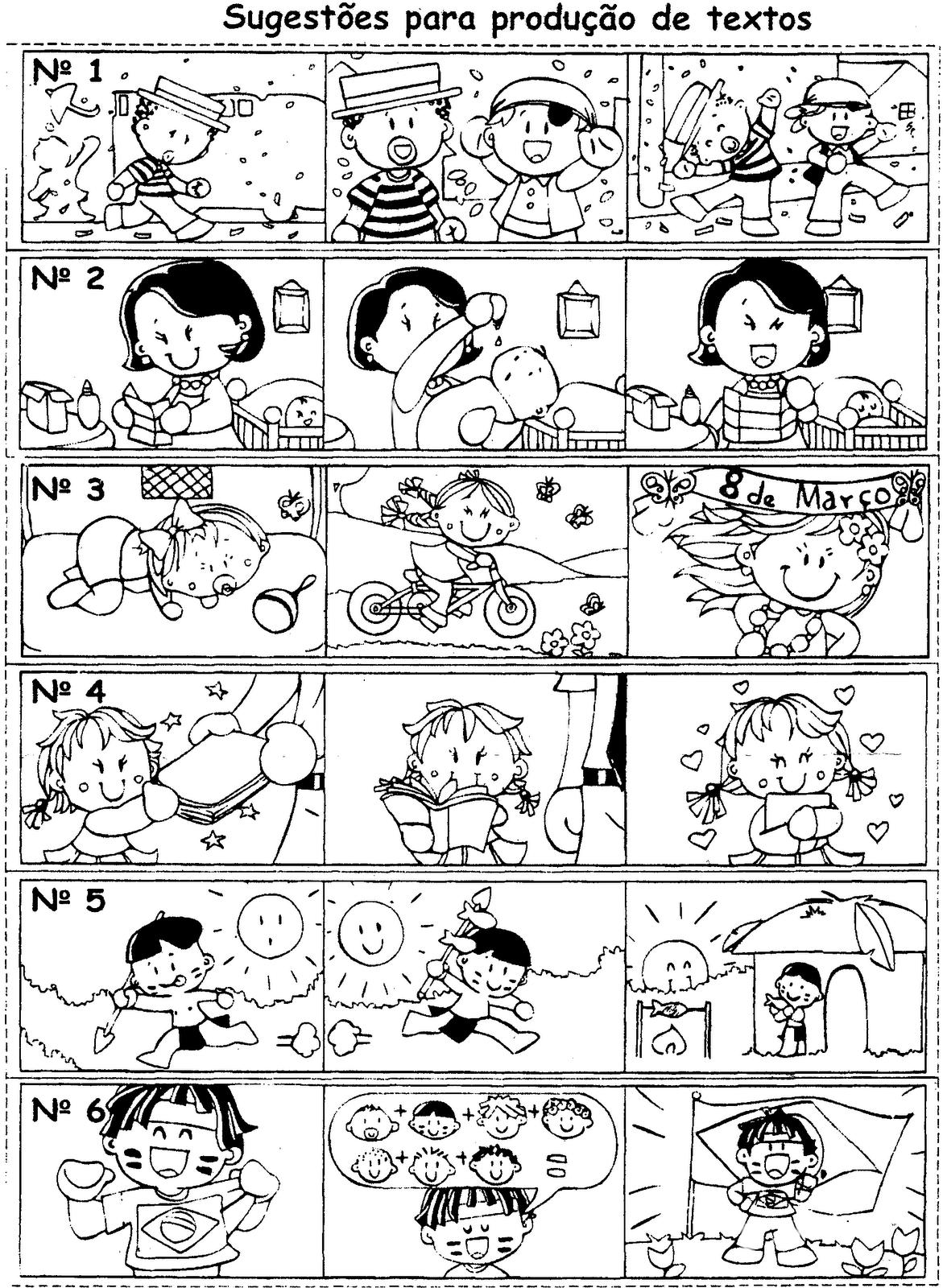 Produção de texto com sequência de figuras