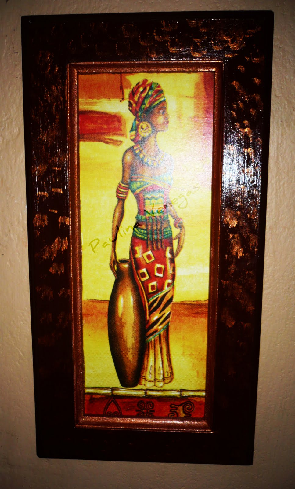 Tejas decoradas en relieve cuadros con dise os africanos - Cuadros en relieve modernos ...