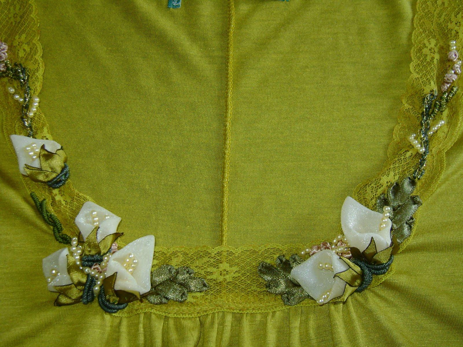 Блузка вышивка лентами 85