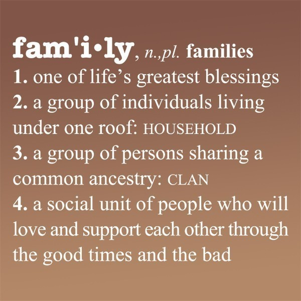 definition of family essay Family does not have limitations or boundaries (true) as long as the definition of family contains the qualities of unconditional love, and endless support, help, and guidance all different families (awk) will be able to succeed and achieve a greater feeling of happiness and a sense of belonging and acceptance.