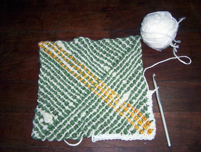 realizando el borde en crochet
