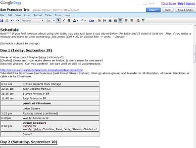 Using Google Docs as a Collaboration Tool
