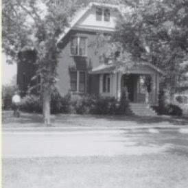 Home of the family of Walter Mueller on Faculty Lane in Seward, Nebraska. The image is from The Broadcaster magazine, http://www.cune.edu/resources/docs/Broadcaster/Broadcaster_Spring_2008.pdf