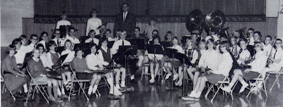 St John Elementary School band. The image was scanned from the 1965-1966 yearbook.