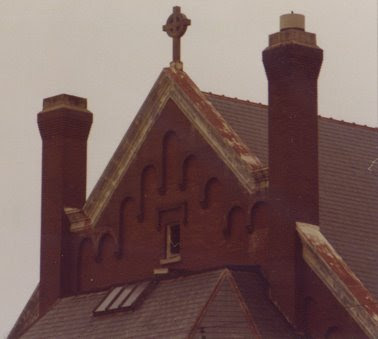 A detail of the old St John Church in Seward, Nebraska. Scanned from a photo taken by Steve Sylwester.