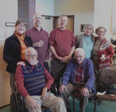 Family of Reinhold Marxhausen, including also Jerry Lodwig. Standing: Kim Marxhausen, Paul Marxhausen, Karl Marxhausen, Dorris Marxhhausen, and Marie Lodwig. Image taken from http://karl.marxhausen.net/blog/