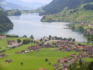 Paisagem da Suíça, nas montanhas