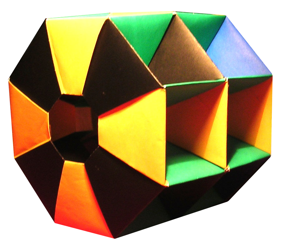 lets make origami octagonal rings structure by tomoko fuse