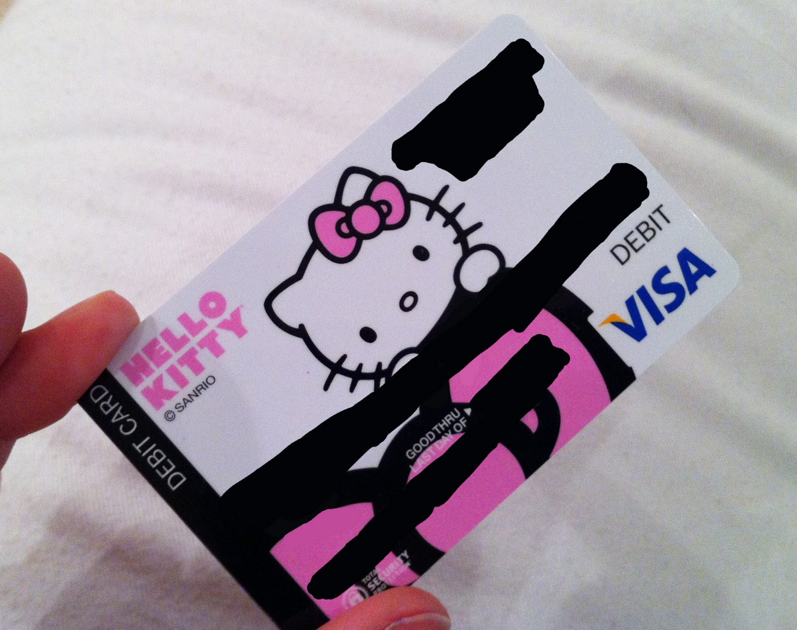 yes i just got a hello kitty debit cardsome banks offer free custom designs - Custom Visa Debit Card