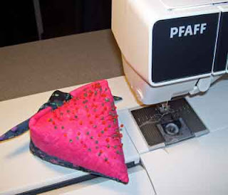 Heart Pincushion pattern available free on-line.