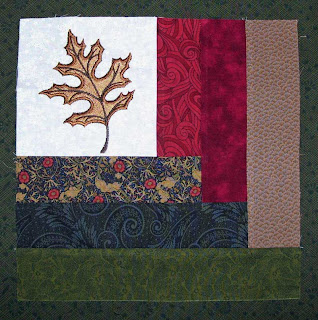 An extra leaf quilt block will be my first Give-Away for this blog.