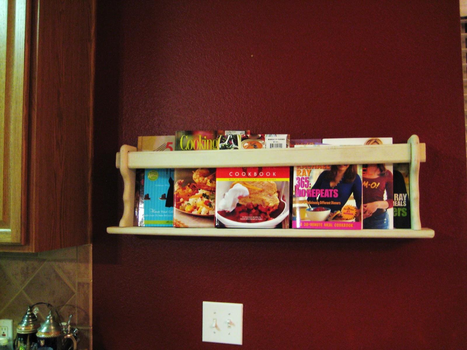 Kitchen Cookbook Wall Shelf