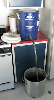 Nothing weird about the mash and sparge, so that part is easier than a sour mash.