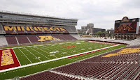Inside TCF Bank Stadium before a game