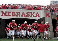 Nebraska Cornhuskers Roster coming out of the tunnel