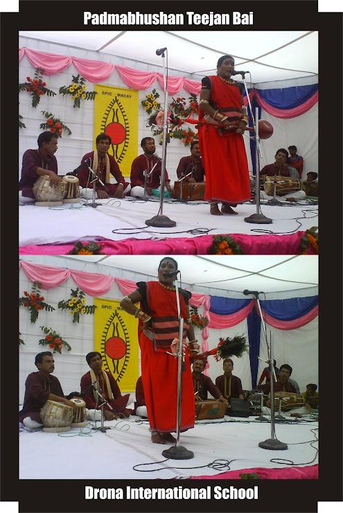 Pandavani folk in Drona International School