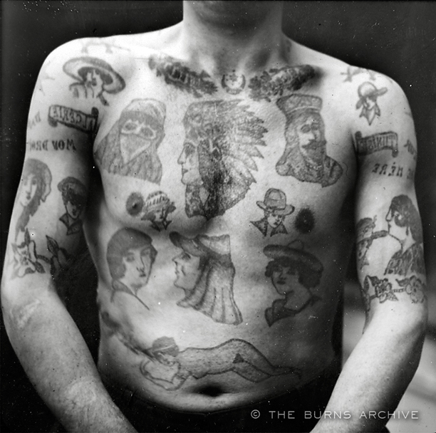 Alexandre Lacassagne's pioneer study of criminal tattoos from the 1890s.
