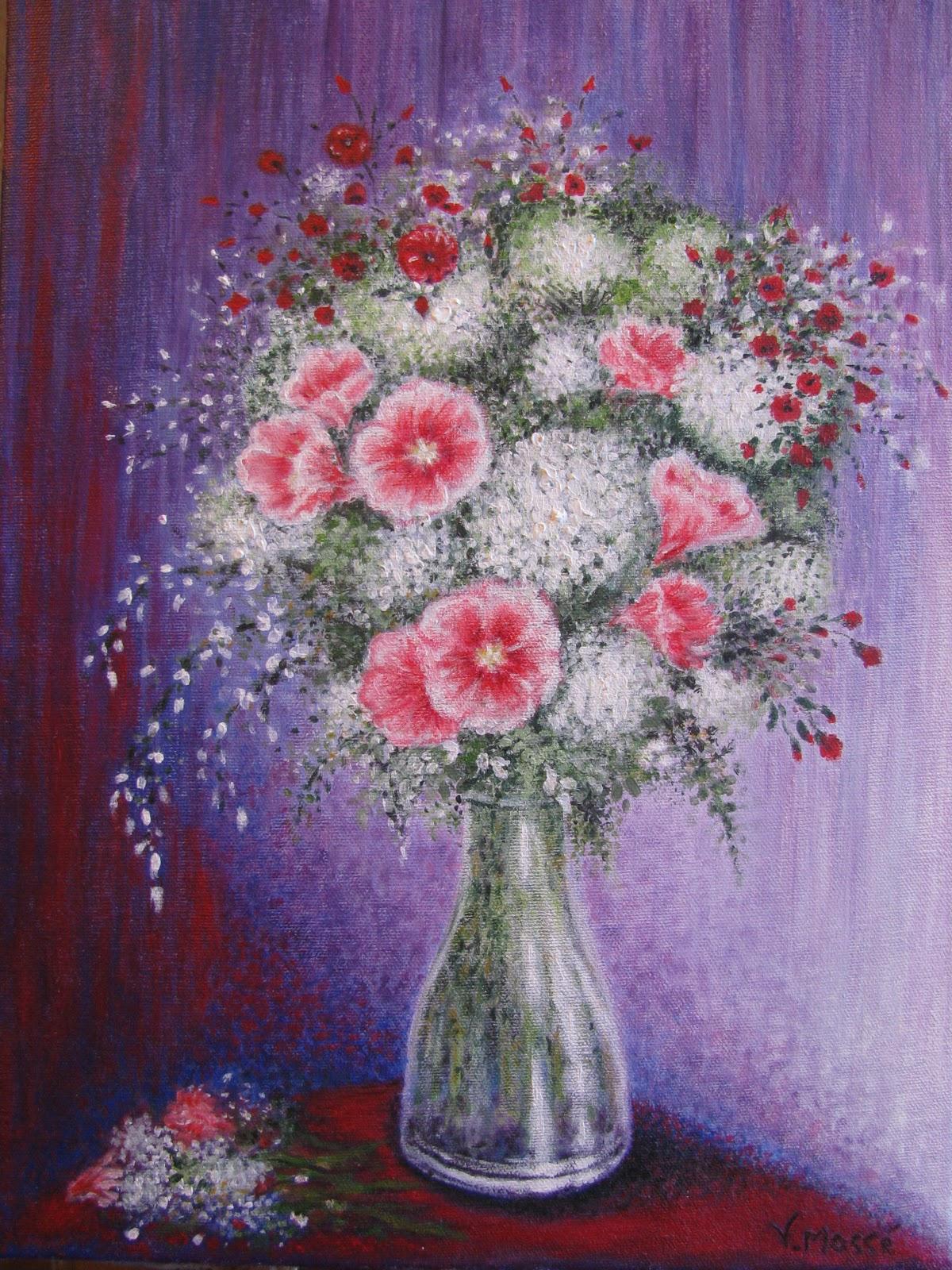 Les peintures de viviane ao t 2010 - Fleur de jachere ...