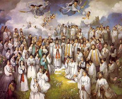 tableau des martyrs coréens