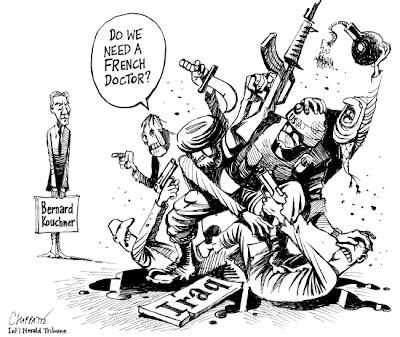 Kouchner en Irak par Chappatte