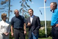 M.Sarkozy chez les Bush