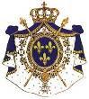 armes de France sur manteau