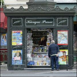 kiosque de presse à paris