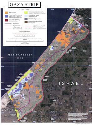 carte de Gaza