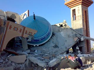 coupole de mosquée à terre
