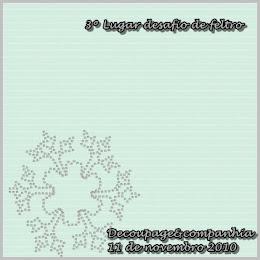 3º Lugar Desafio de Feltro - Estrela de Natal