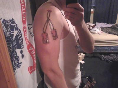 dog tags tattoo. Dog Tag tattoos are stupid,