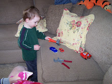 michael working with his tools