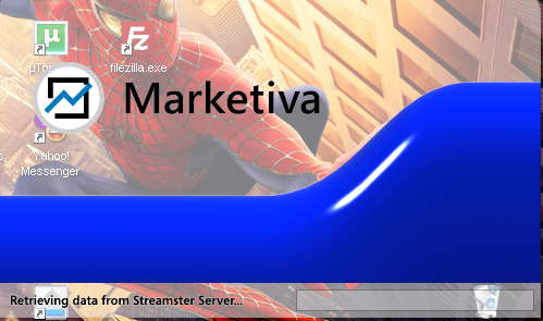 proses login Marketiva platform streamster
