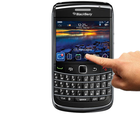 Blackberry Bold with touch screen feature?
