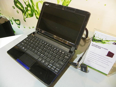 acer aspire one 532g Acer Aspire One 532G: first netbook uses nVidia Optimus technology