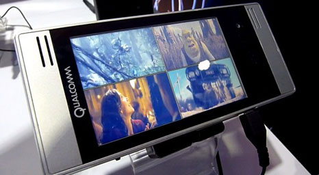 Qualcomm mobile chip 7×30: can watch HD-format video smoothly
