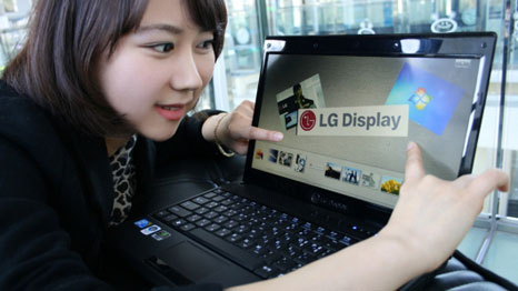 LG notebook have been certified Windows 7 Touch Logo