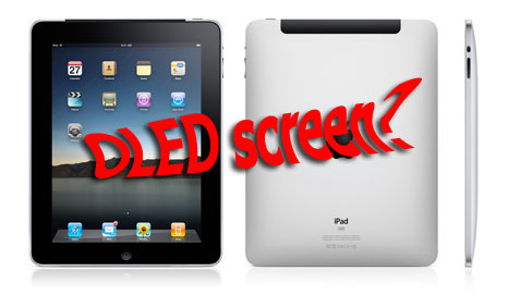 The second generation of the Apple iPad, will use OLED screen?