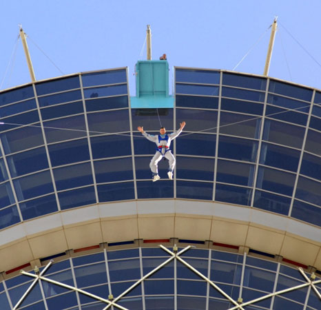 SkyJump Las Vegas claimed as the world&#8217;s highest bungee jumping for the public