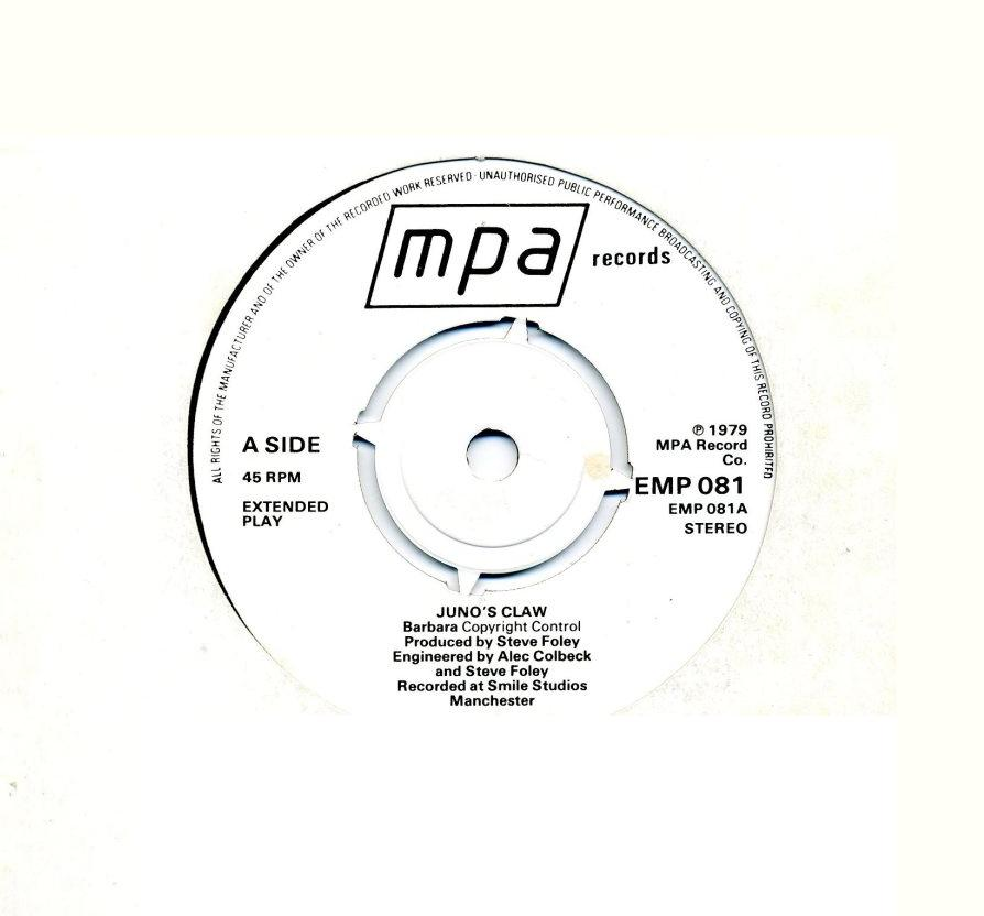 Juno's Claw (UK) - Barbara [Single] (1979) Juno+A-Side